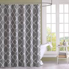 bathroom distinctive grey bathroom shower curtain with colorful