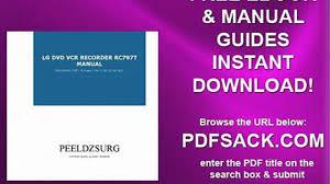 lg dvd vcr recorder rc797t manual video dailymotion