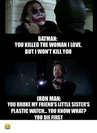 I Love My Man Memes - 15 most savage iron man vs batman memes animated times