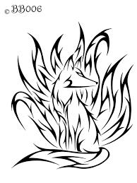 nine tailed fox drawing tattoo u0027s for u003e tribal nine tailed fox