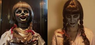 this diy annabelle doll costume from the conjuring will haunt your
