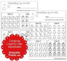 christmas counting worksheets 1 10 u2014 printable treats com