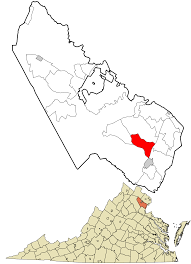 Northern Virginia County Map by Montclair Virginia Wikipedia