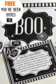 you u0027ve been booed free printable kit catch my party