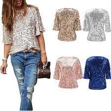 sequin shirt tops blouses ebay