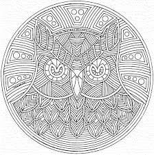 owl mandala coloring pages 8940 mandala coloring page