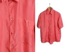 polka dot shirt button up silk shirt mens silk shirt 90s