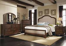 lexington victorian sampler oak king 7 piece bedroom set ebay