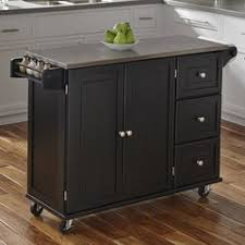 kitchen island top barrel studio terrell kitchen island with stainless steel top