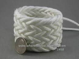 knots and fiber bracelets white paracord triple weave herringbone