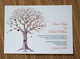 rustic tree wedding invitation with carved initials ipunya