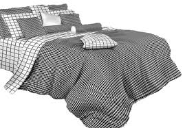 black and white check luxury 100 cotton duvet cover set dolce