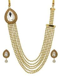 gold rani haar sets traditional gold plated ethnic rani haar set white at