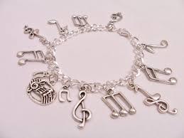 themed charm bracelet musical notes charm bracelet musical metal charm bracelet