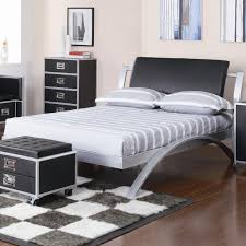 Silver Black Bedroom Leclair Youth Group Contemporary Bedroom Youth Bed Silver Black