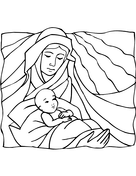 jesus born in a manger coloring page free printable coloring pages