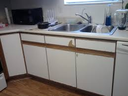 White Laminate Kitchen Cabinet Doors How To Paint White Laminate Kitchen Cabinets Look Like Wood