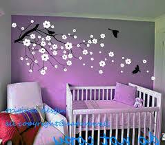 Purple Wall Decals For Nursery Purple Wall Decals For Nursery Cherry Blossom Decals Wall Decor