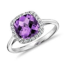 purple diamond engagement rings 5 pretty engagement rings for february babies or any girl