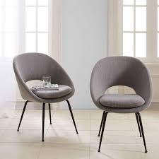 orb upholstered dining chair antique bronze legs west elm uk