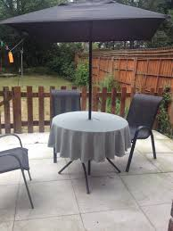 Outdoor Tablecloth With Hole For Umbrella by Patio Tablecloth With Ring For Umbrella Parasol 57 Furniture Round