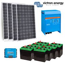 victron powered off grid solar system