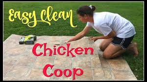 Chicken Coop Floor Options by Easy Clean Chicken Coop Youtube