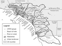 California Rivers images Southern california counties rivers and creeks watershed png