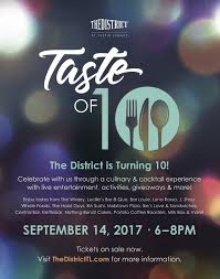 the district u0027s taste of 10 anniversary event oc mom blog