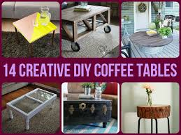 creative diy coffee tables