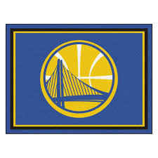 Area Rugs Okc by Fanmats Nba Golden State Warriors Blue 8 Ft X 10 Ft Indoor Area