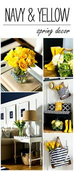 yellow decor ideas spring decor ideas in navy and yellow it all started with paint