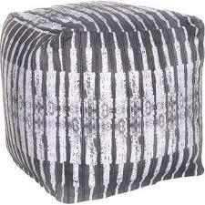 seating cream grey pouf ottoman