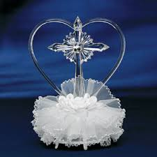 christian wedding cake toppers religious cake toppers glass heart religious wedding cake topper