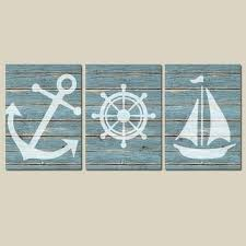 wooden sailboat wall decor wall ideas design three pieces