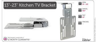 flip down lcd tv mount bracket kitchen cuboard cabinet