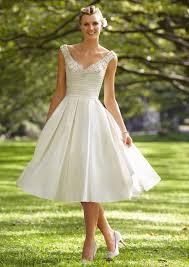 knee length wedding dresses for elegant and modest look wedding