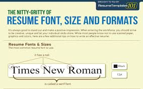 The Perfect Resume Format The Perfect Resume Font Size And Formats Infographic Cob