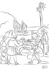 nephi builds a boat coloring page free printable coloring pages