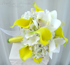 Calla Lily Bouquets Yellow Calla Lily Orchid Wedding Bouquet Bride In Bloom