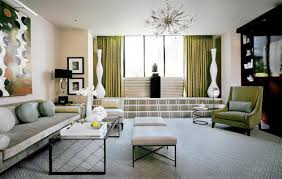 amazing bold green and pastel mi of colors in the art deco living