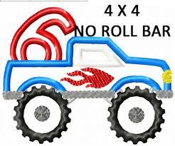 monster trucks clipart monster truck number set 1 6 applique u2013 creative appliques