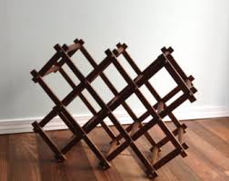 teak wine rack etsy