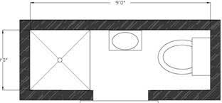 narrow bathroom floor plans small bathroom floor plans