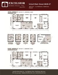 schult modular home floor plans schult main street 6828 47 excelsior homes west inc