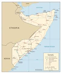 Map Of Africa With Cities by Map Of Somalia With Cities Somalia Map With Cities Vidiani Com