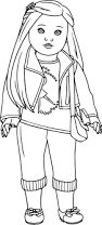american doll coloring page free download
