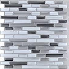 amazon com art3d 10 piece stick on backsplash tile for kitchen