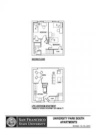 University Floor Plans University Park South Sf State Housing