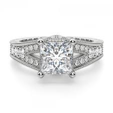 cut engagement ring valencia princess cut engagement ring